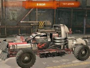 Crossout автомобиль в ангаре