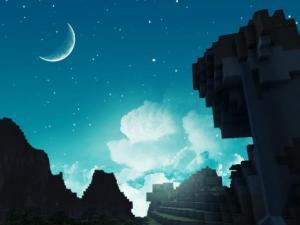 ночь в Minecraft
