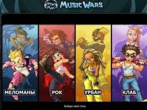 музыкальные направления, представленные в игре