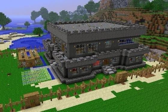 картинки домов в майнкрафт