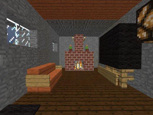 minecraft гостиная