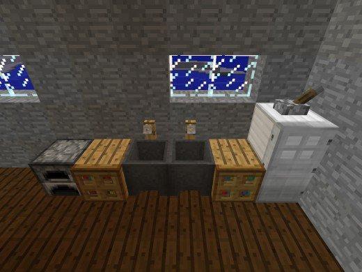 minecraft кухня