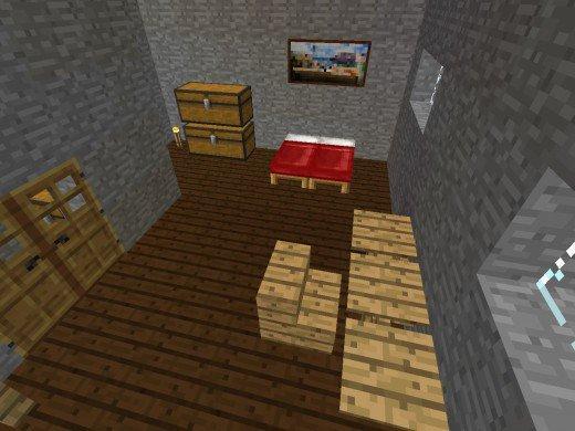 minecraft спальня